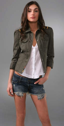 Juicy Couture Military Shirt Jacket