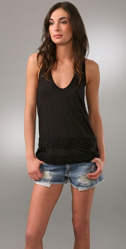 Juicy Couture Tank With Crochet