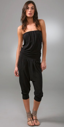 Juicy Couture Pleated Knit Jumpsuit
