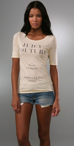 Juicy Couture Juicy Couture Open Neck Tee