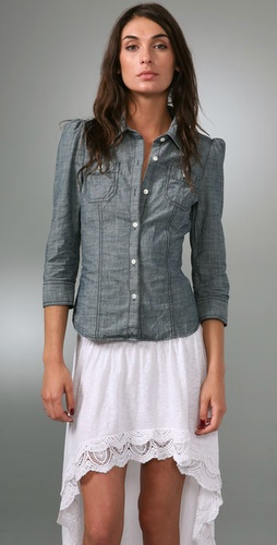 Juicy Couture Chambray Western Shirt