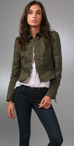 Juicy Couture Skylar Twill Military Jacke