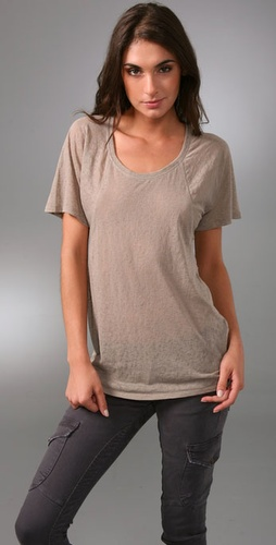 Juicy Couture Burnout Raglan Sleeve Tee