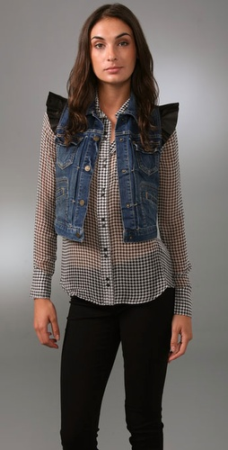 Juicy Couture Shrunken Denim Vest