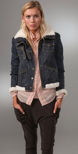 Juicy Couture Long Sleeve Sherpa Denim Bo