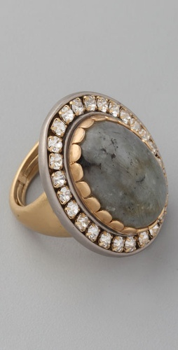 Juicy Couture Grey Labradorite Ring