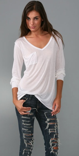 Kain Label V Neck Pocket Shirt With Long