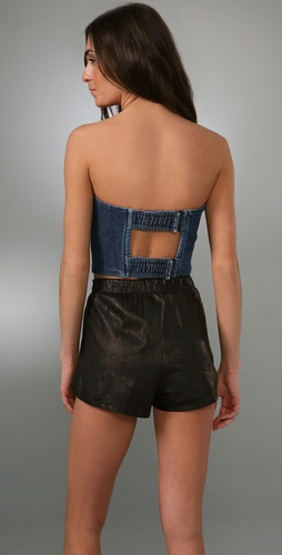 Kettle Black Denim Corset