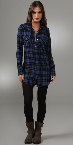 Kettle Black Classic Flannel Dress