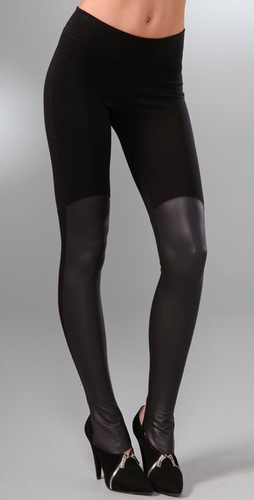 Kill City Tall Boot Leggings with Faux Leather