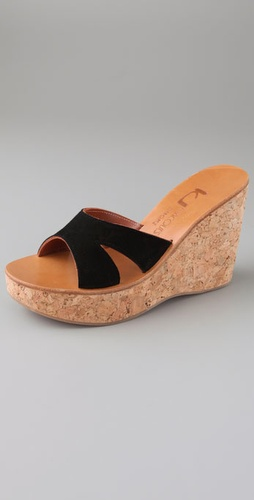 K. Jacques Kyoto Cork Slide Sandals