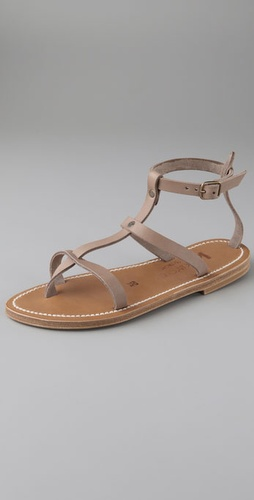K. Jacques Gina Flat Sandals With Two Ban