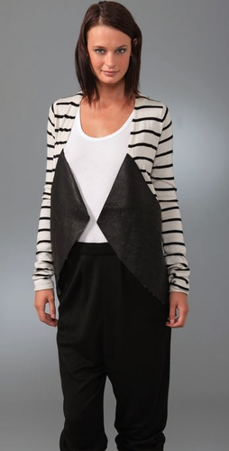 Kimberly Ovitz Hendron Cardigan With Leat