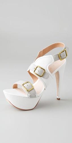 L.A.M.B Denise Platform Sandals