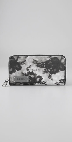 L.a.m.b Signature Lace Zip Around Wallet