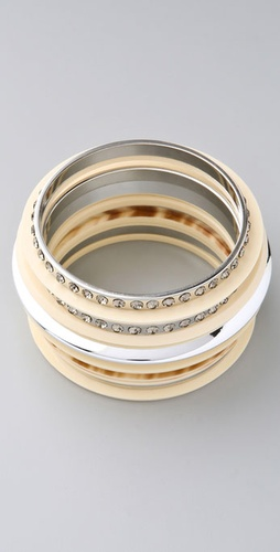 Lee Angel Jewelry Jane Ivory Bangle Set