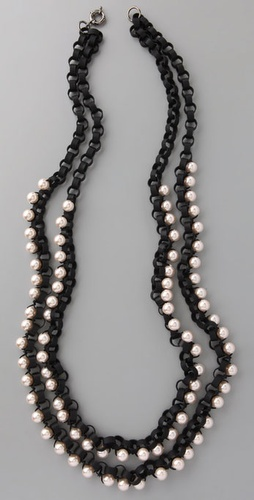 Lee Angel Jewelry Martine Pearl Woven Nec