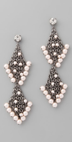 Lee Angel Jewelry Martine Pearl Earrings