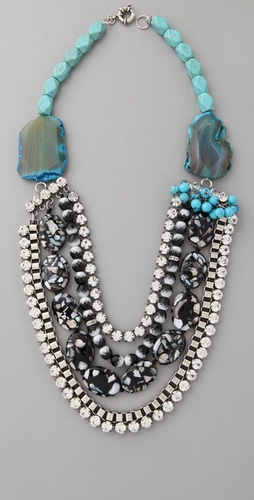 Lee Angel Jewelry Chantal Turquoise Neckl