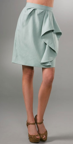 Lela Rose Wave Front Skirt