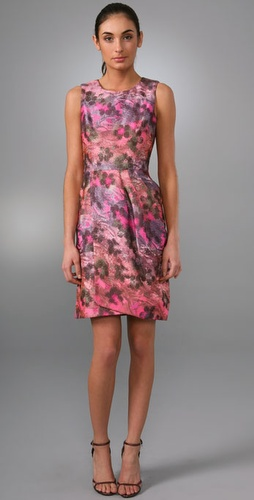 Lela Rose Sleeveless Dress With Wrapped S