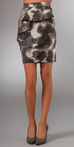 Lela Rose Pencil Skirt with Draped Detail