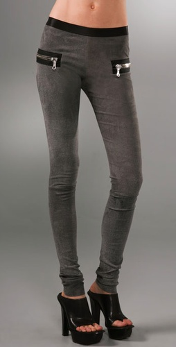 Les Chiffoniers Zip Leather Leggings