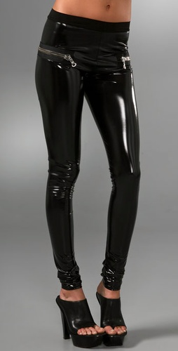 Les Chiffoniers Zip Pvc Leggings