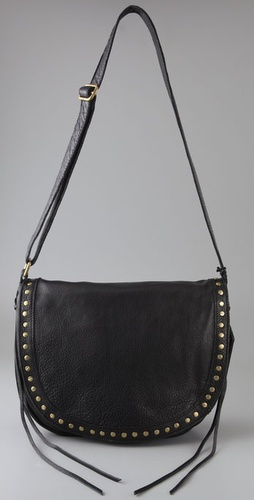 Linea Pelle Perry Stud Small Messenger Ba