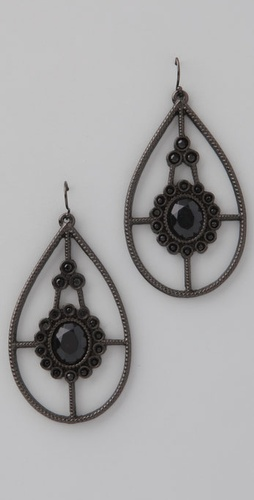 Lisa Stewart Jewelry Black Stone Earrings