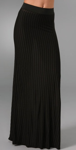 LNA Stripe Column Skirt