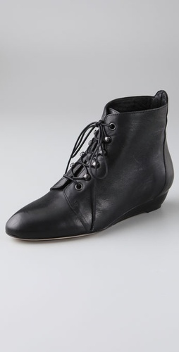 Loeffler Randall June Lace Up Flat Booties