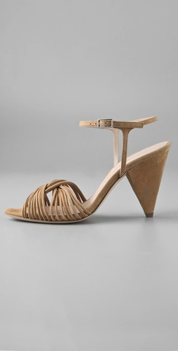 Loeffler Randall Tara Mignon Twist Suede Sandals from shopbop.com