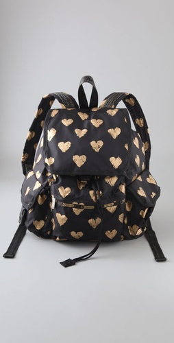 Lesportsac Heart Of Gold Voyager Backpack