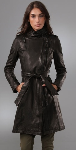 Mackage Trinity Leather Trench Coat