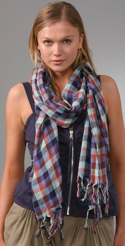 Madewell Jack Plaid Long Scarf