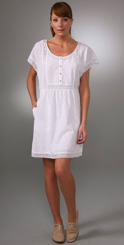 Madewell Nola Crocheted Yoke Dress