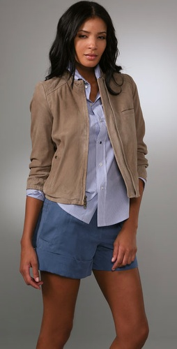 Madewell Suede Tara Bomber Jacket