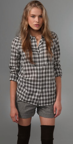 Madewell Pintuck Girlie Shirt