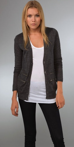 Madewell Jemmalyn Zip Cardigan