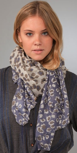 Madewell Two Tone Cheetah Scarf