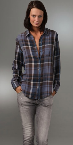 Madewell Silk Boyshirt
