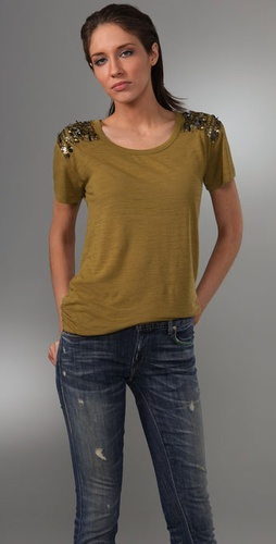 Madewell Birkin Antique Metallic Sequin Tee