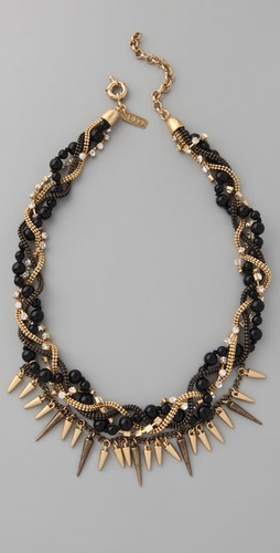 Madewell Long Bead and Spike Necklace