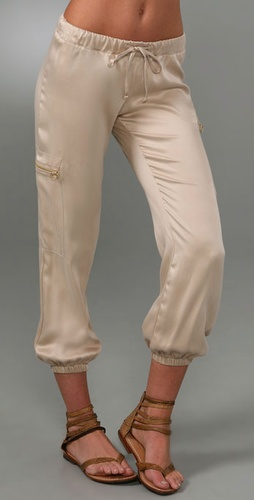 Maggie Ward Drawstring Silk Cargo Pants