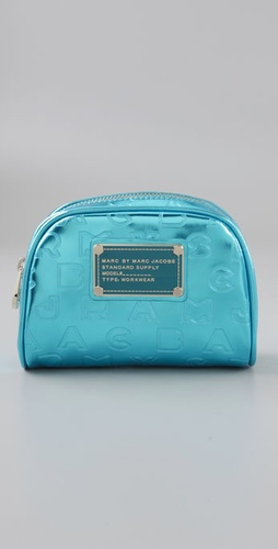 Marc by Marc Jacobs Logo Travel Mirror Mini Cosmetic Bag