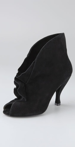 Marc By Marc Jacobs Open Toe Suede Bootie