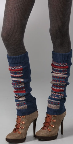 Marc by Marc Jacobs Buzzy Fair Isle Sweater Leg Warmers