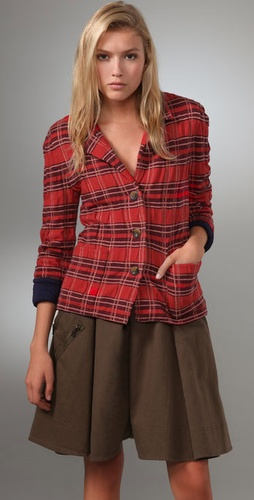 Marc By Marc Jacobs Alma Plaid Sweater Ja