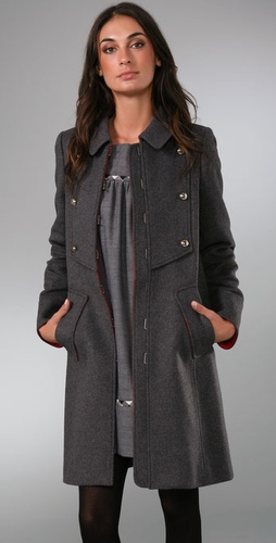 Marc By Marc Jacobs Solid Wool Felt Coat